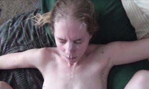 Видео нарезка камшотов на лица оттраханных тёлочек